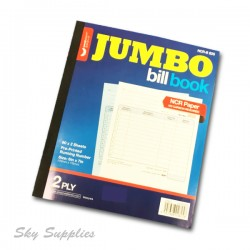 "Unicorn Jumbo Bill Book 6""x7"" 2ply"