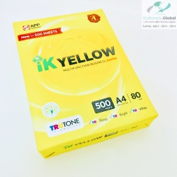 IK Yellow A4 80gsm Paper 500 Sheets