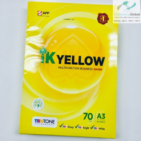 IK Yellow Paper A3 70gsm