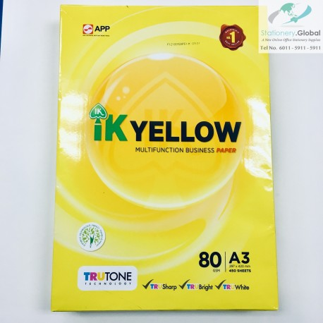 IK Yellow Paper A3 80gsm