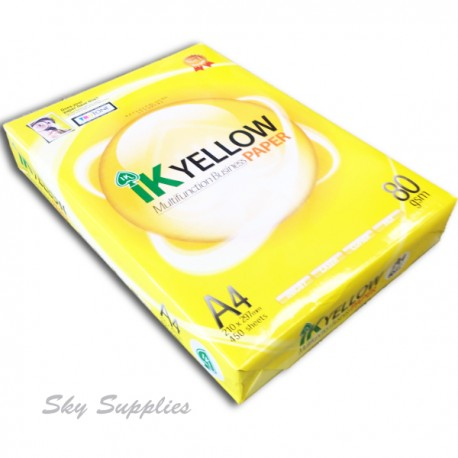 IK Yellow Paper A4 80gsm