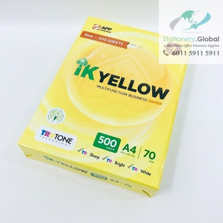 IK Yellow Paper A4 70gsm 500 Sheets